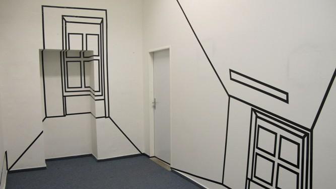 Z výstavy Kamily Rýparové Redefinition space (Galerie Cella)