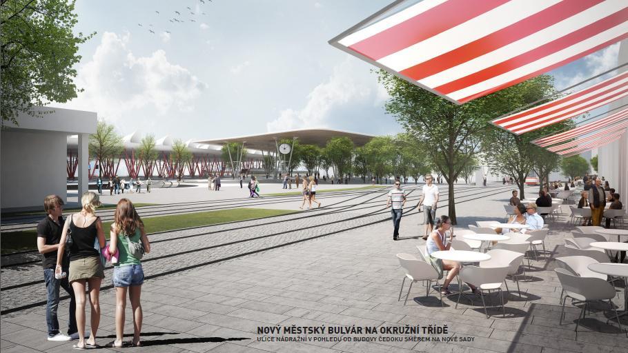Kolem nádraží by mohl vyrůst moderní bulvár