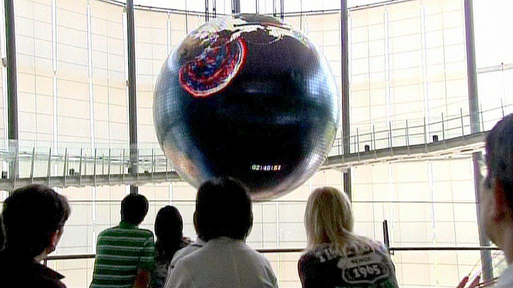 Zeměkoule, která ukazuje zemětřesení v Japonsku