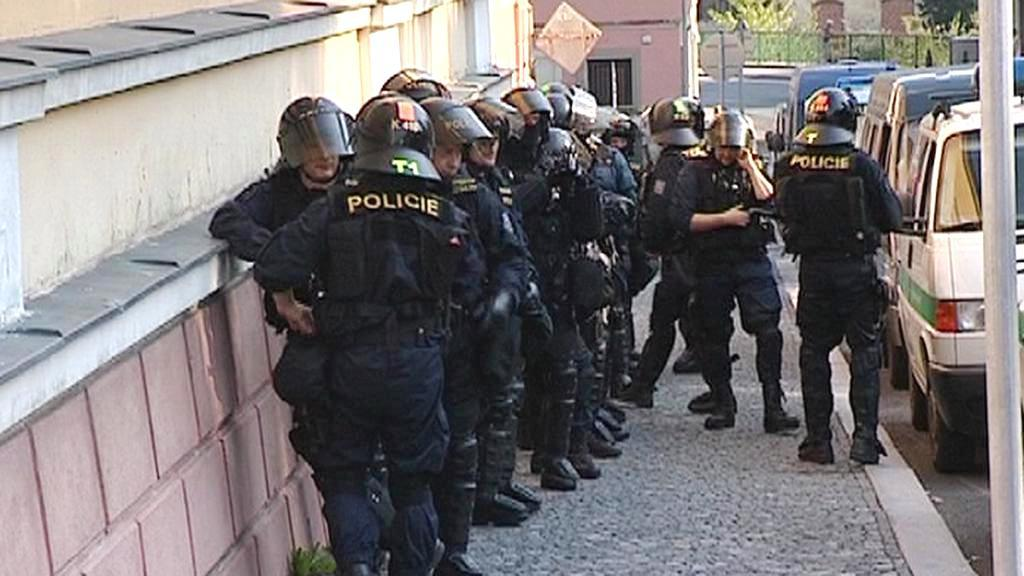 Policisté na Šluknovsku