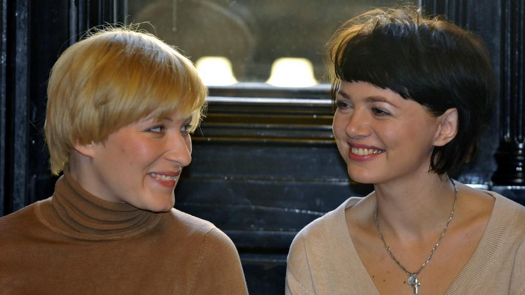Nominace na Ceny Thálie 2011 / (zleva) Helena Dvořáková a Lucie Žáčková