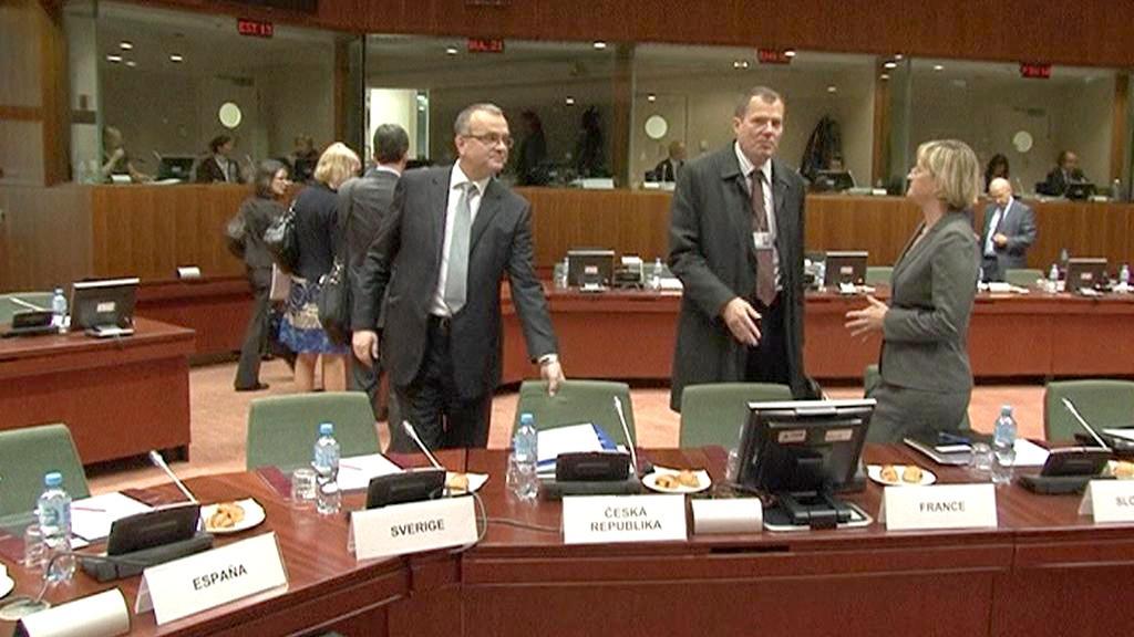 Schůzka ministrů financí EU
