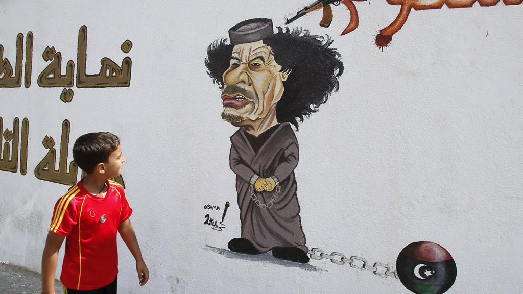 Karikatura Muammara Kaddáfího