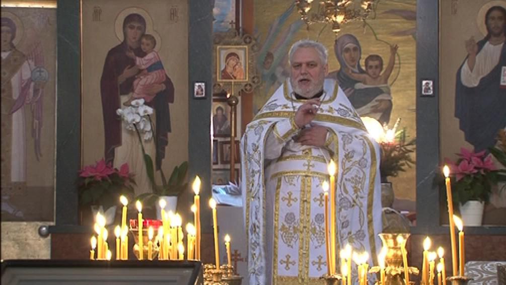 Bohoslužba v chrámu svatého Václava v Brně