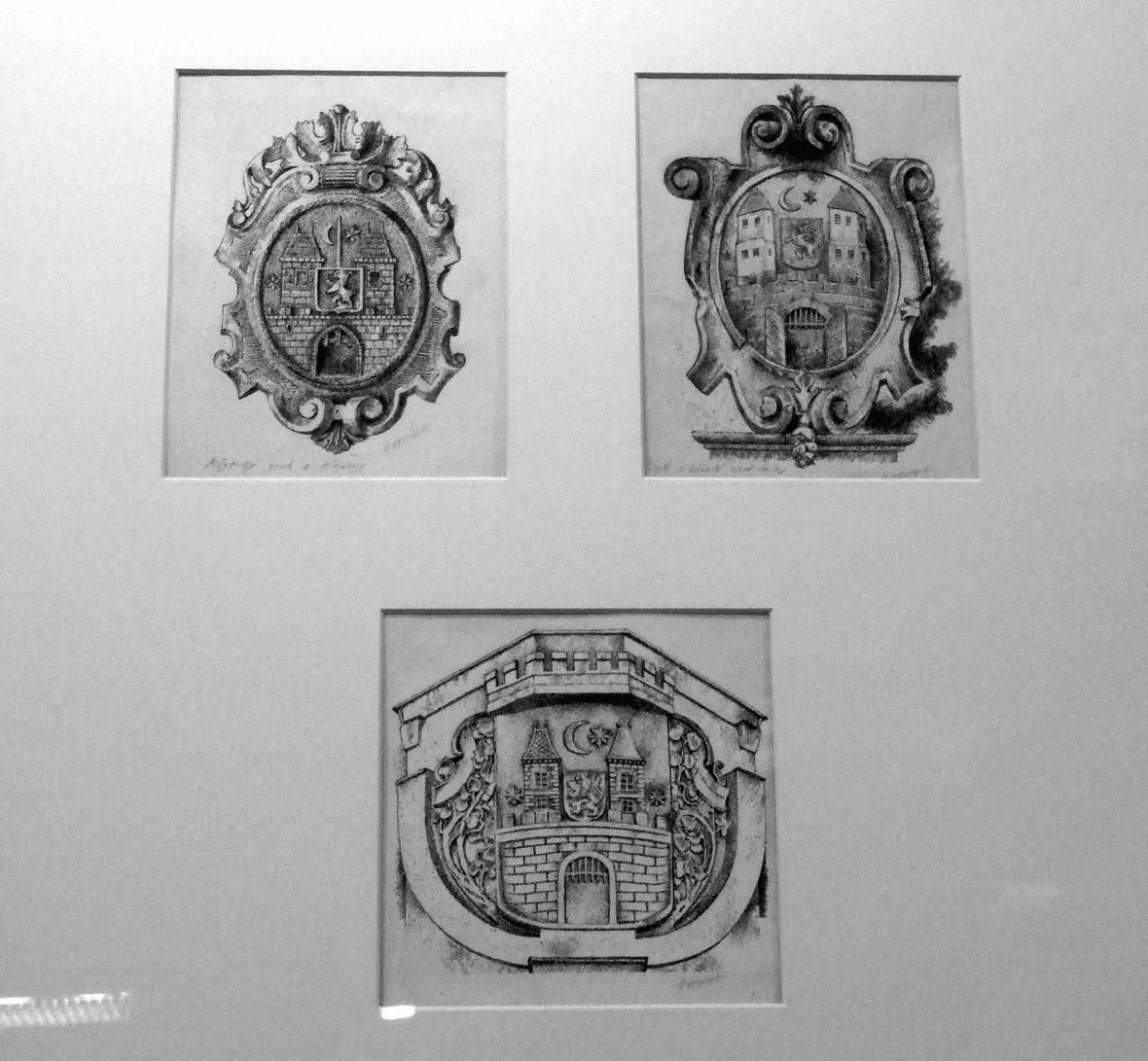 Z výstavy prací Františka Doubka v Písku