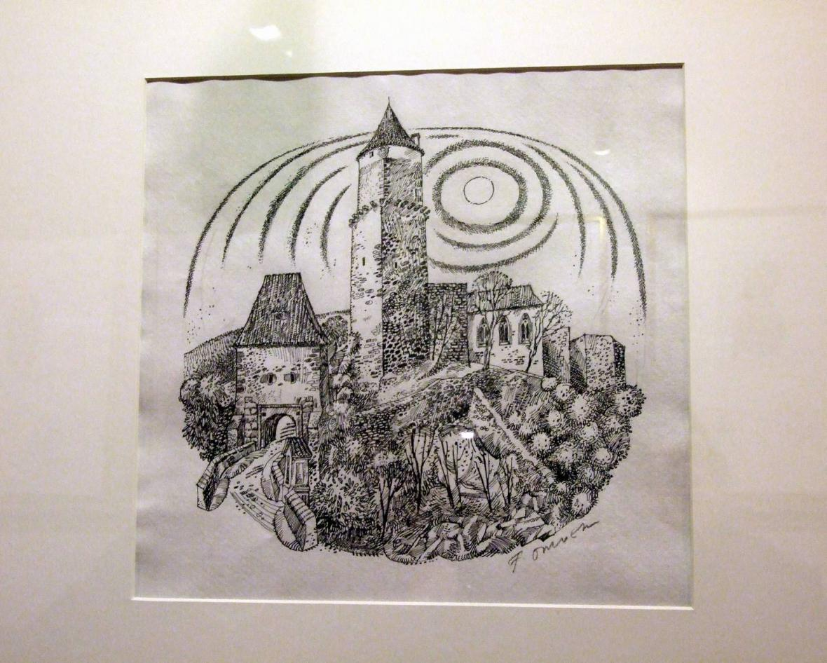 Z výstavy prací Františka Doubka v Písku - Zvíkov