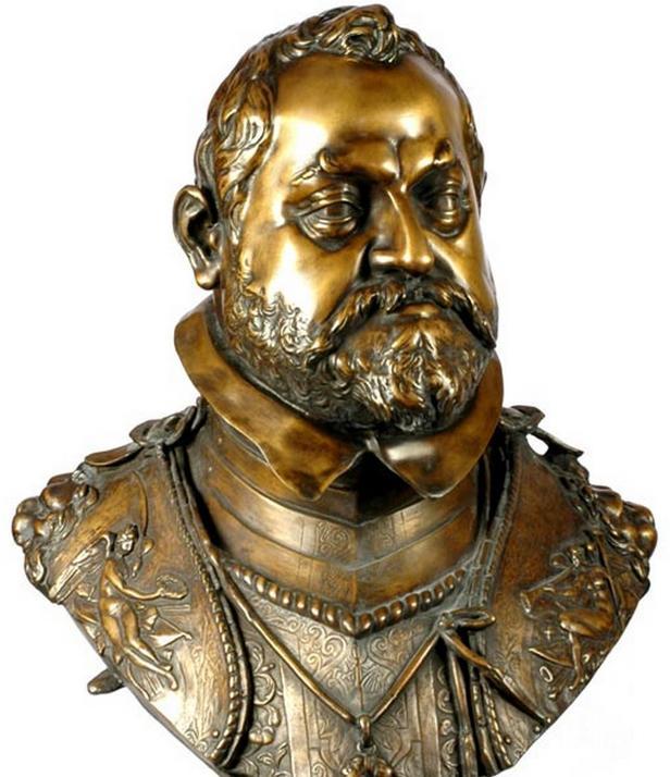 Busta Rudolfa II. od Adriana de Vriese