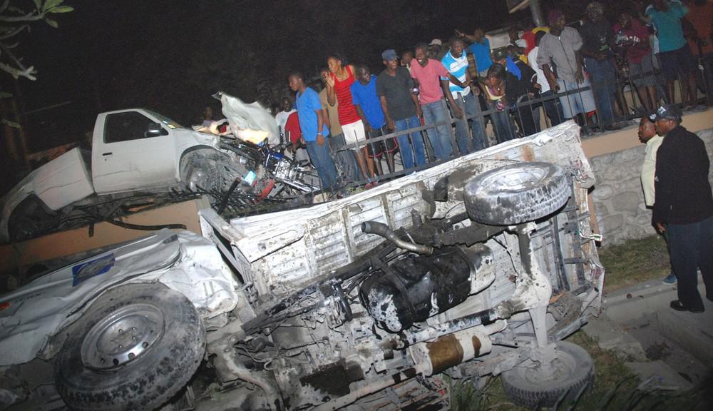 Nehoda kamionu na Haiti
