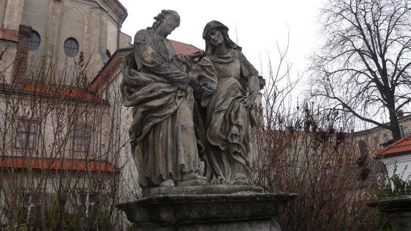 Sousoší Loučení Krista s P. Marií