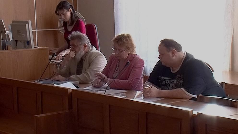 Jiří Tomek a Vladimír Korunka u soudu