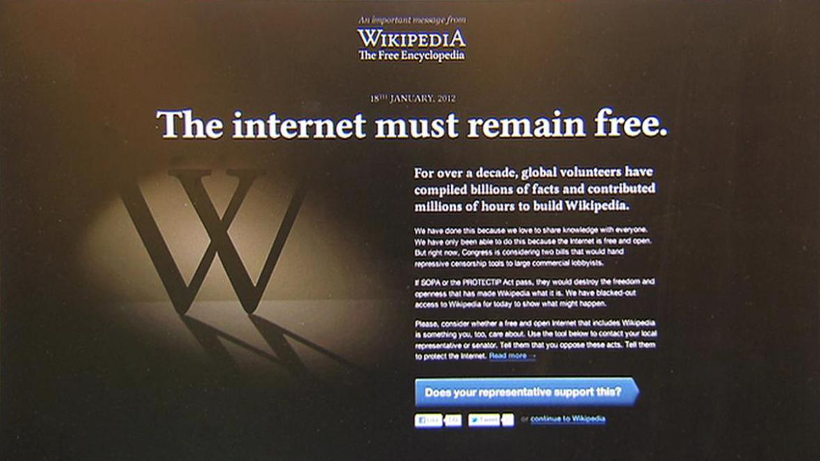 Wikipedie se na 24 hodin vypne