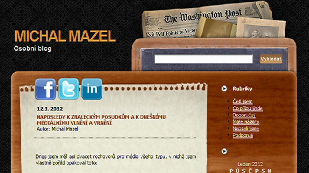 Blog Michala Mazla