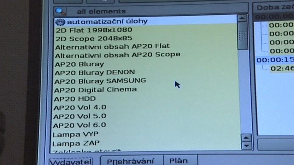 Panel digitálního vysílacího přístroje