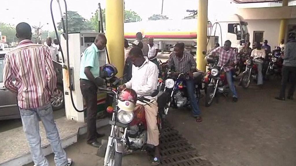 Nigerijská benzinová stanice