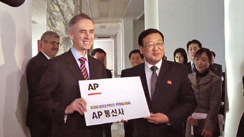 Otevření pobočky AP v Pchjongjangu