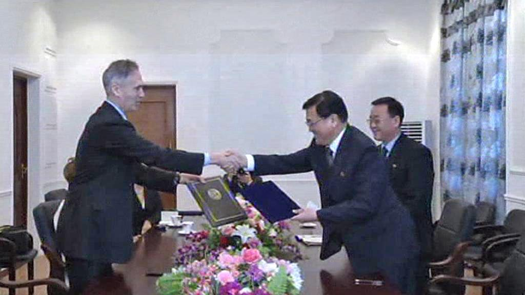 Podpis smlouvy o otevření pobočky AP v Pchjongjangu