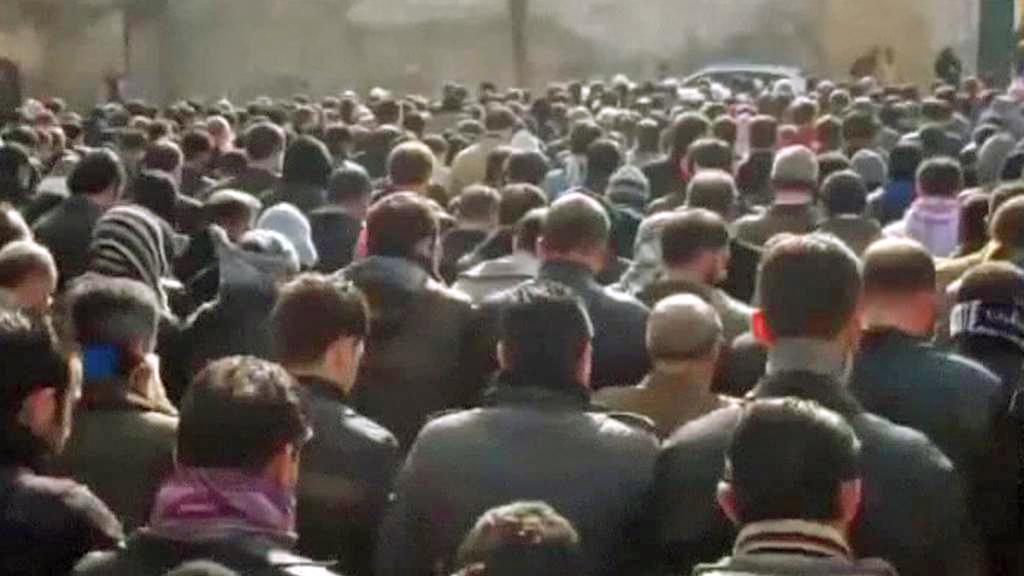 Demonstranti v Sýrii