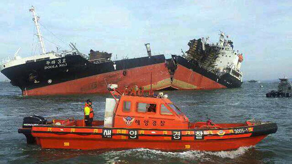 Rozlomený jihokorejský tanker