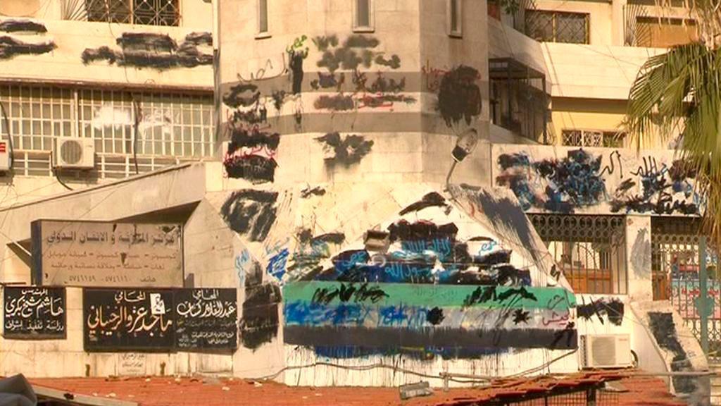 Ulice syrského Damašku