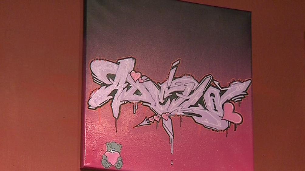 Graffiti na malířském plátně