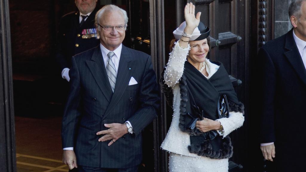 Švédský král Karel XVI. Gustava a jeho žena Silvie