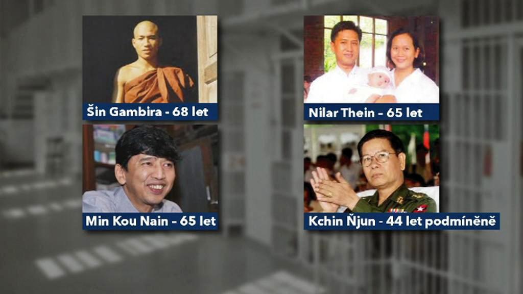 Propuštění barmští vězni