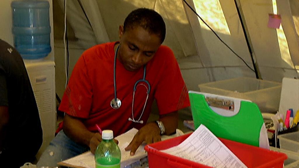 Humanitární práce na Haiti