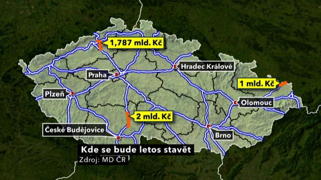 Plánované stavby dálnic