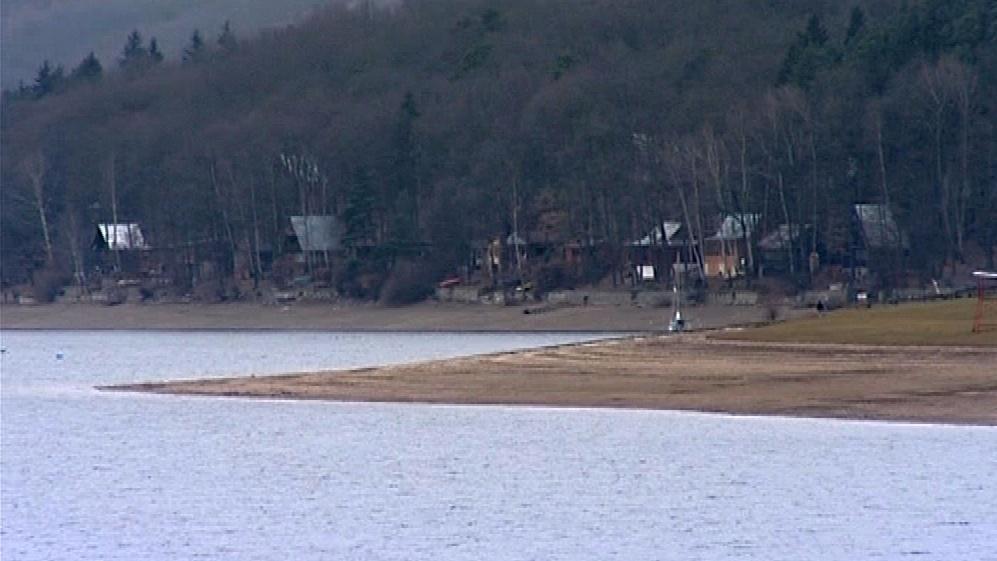 Vranovská přehrada v zimě