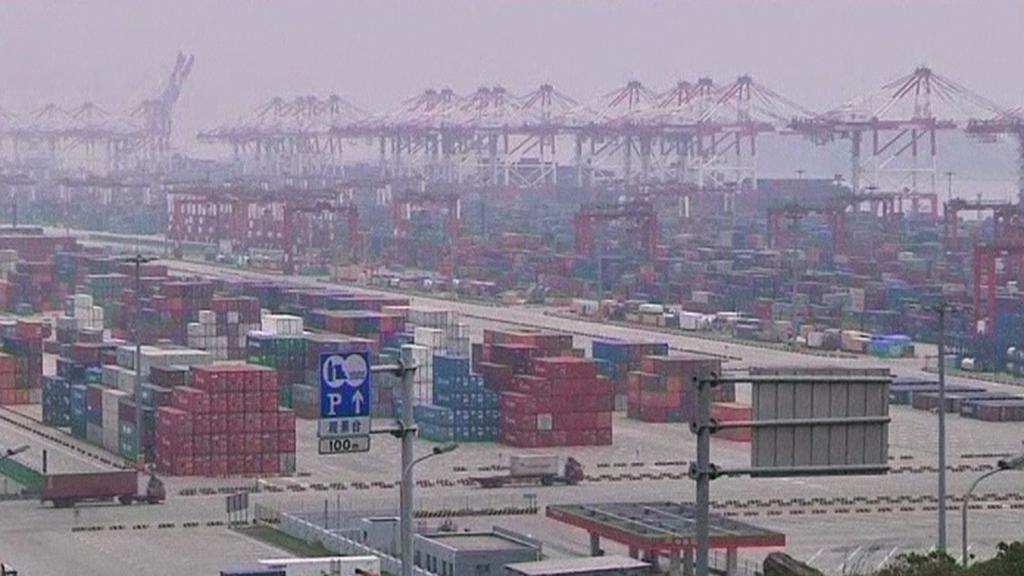 Nákladiště zboží v Číně