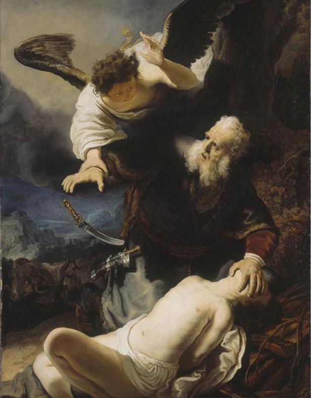 Rembrandt / Obětování Izáka (1635)