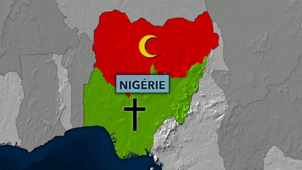 Mapa rozdělené Nigérie