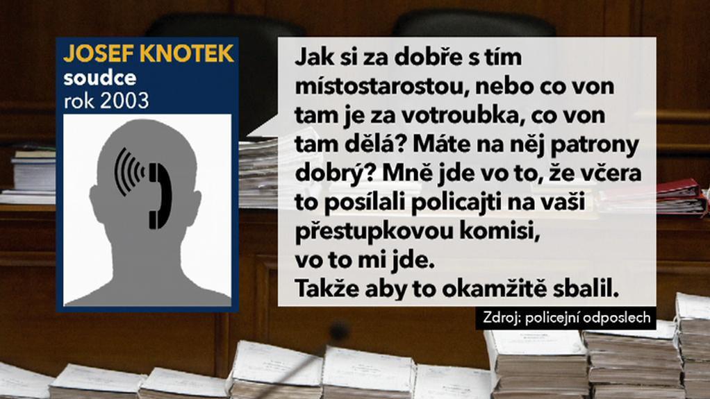 Telefonický záznam soudce Josefa Knotka