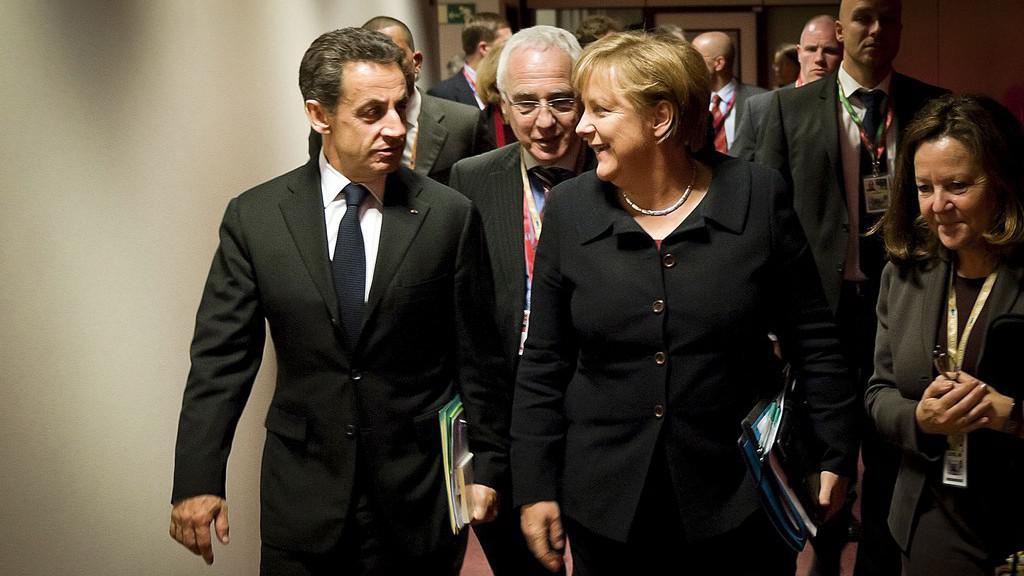 Angela Merkelová s Nicolasem Sarkozym míří na pracovní večeři