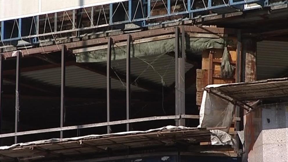 Torzo vyhořelého kasina u brněnského hlavního nádraží