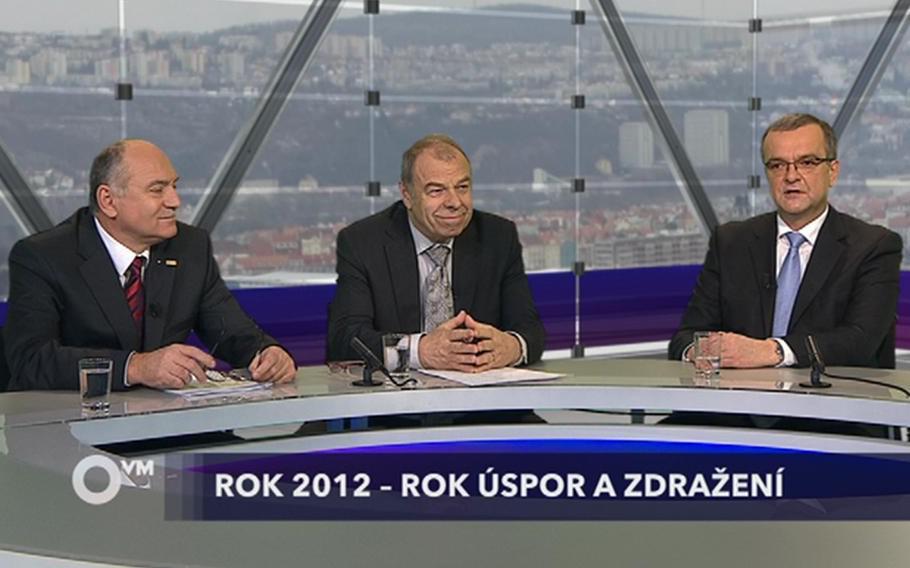 Otázky Václava Moravce 8. 1. 2012