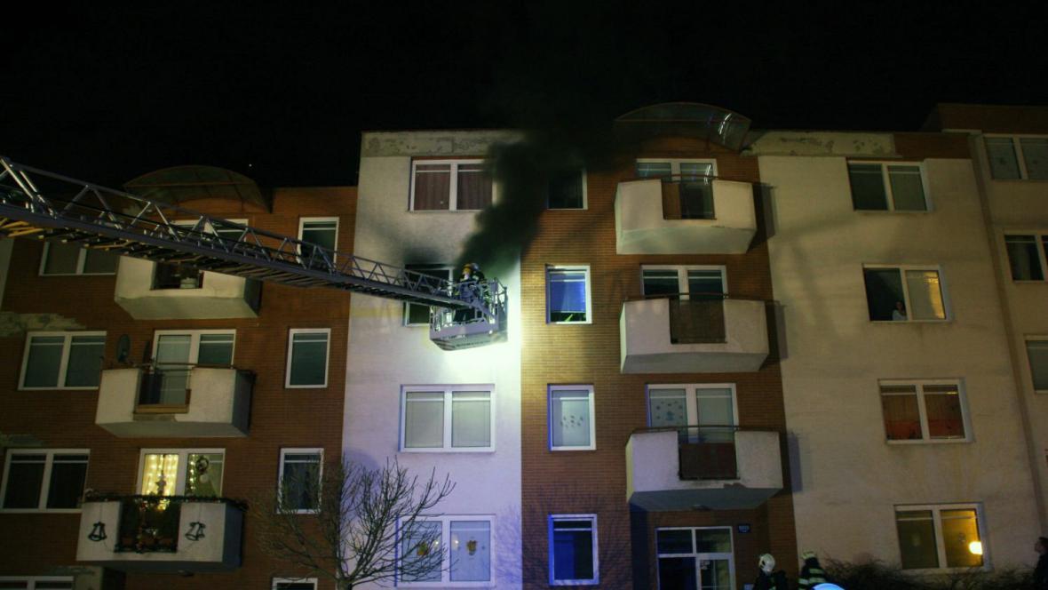Požár bytu ve Zlíně