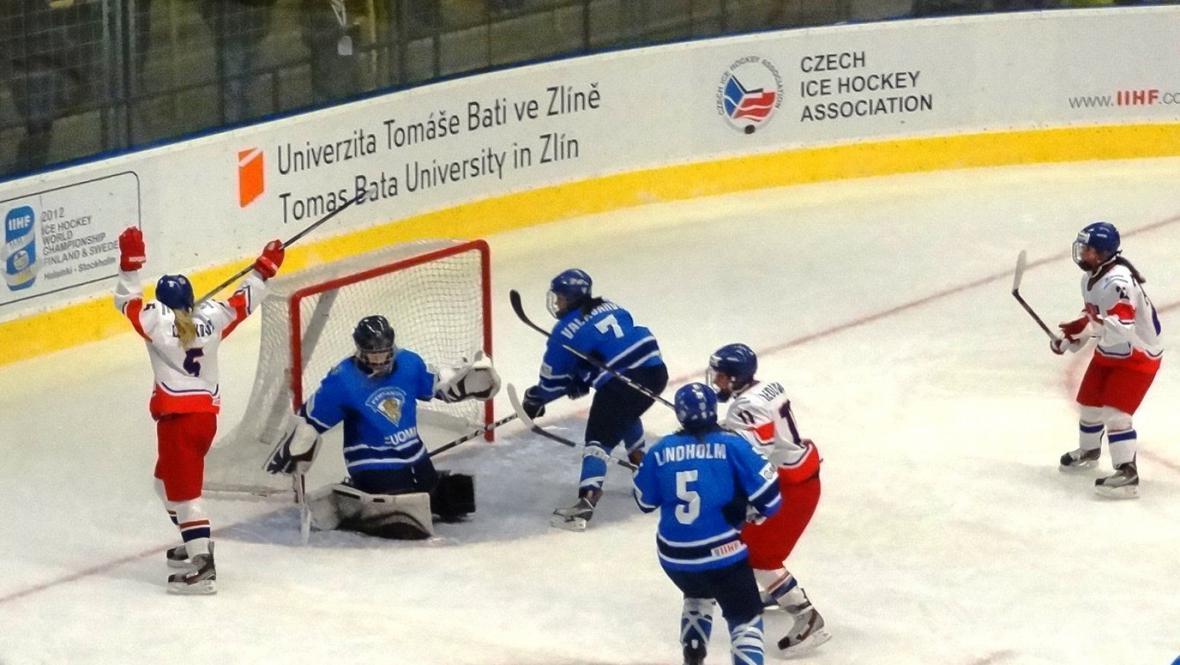 Gólová radost českých hokejistek
