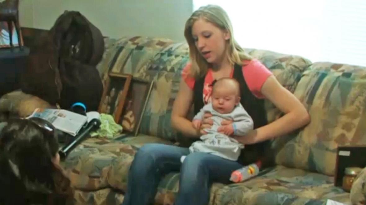 Sarah Dawn McKinleyová s dítětem