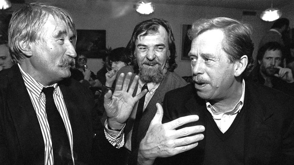 Pavel Landovský a Václav Havel