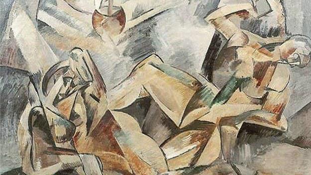 Zabavený obraz Emila Filly Dvě ženy