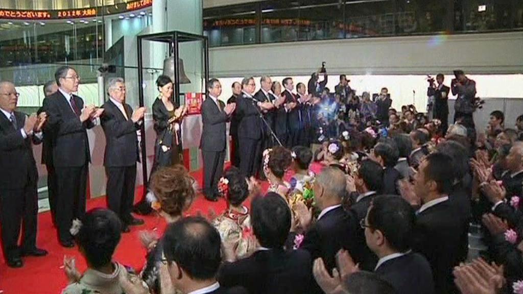 Novoroční ceremoniál na tokijské burze