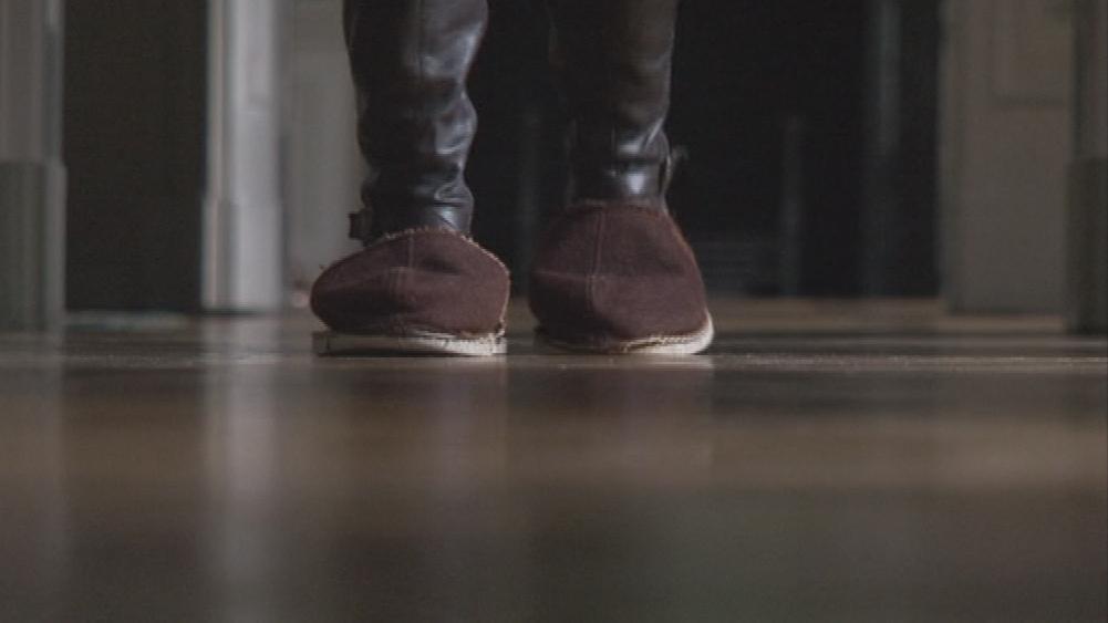 Parkety na zámcích se čistí klasicky - leštěním papučemi