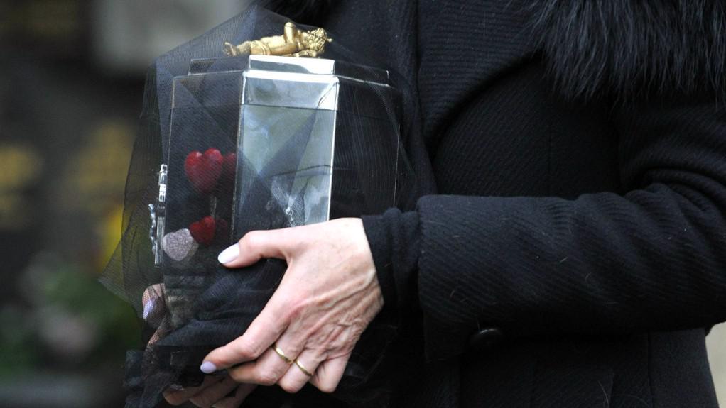 Uložení urny s popelem Václava Havla