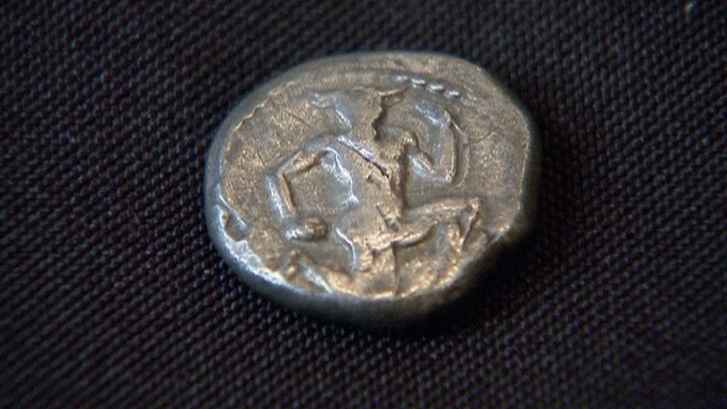 Řecká mince na newyorské aukci