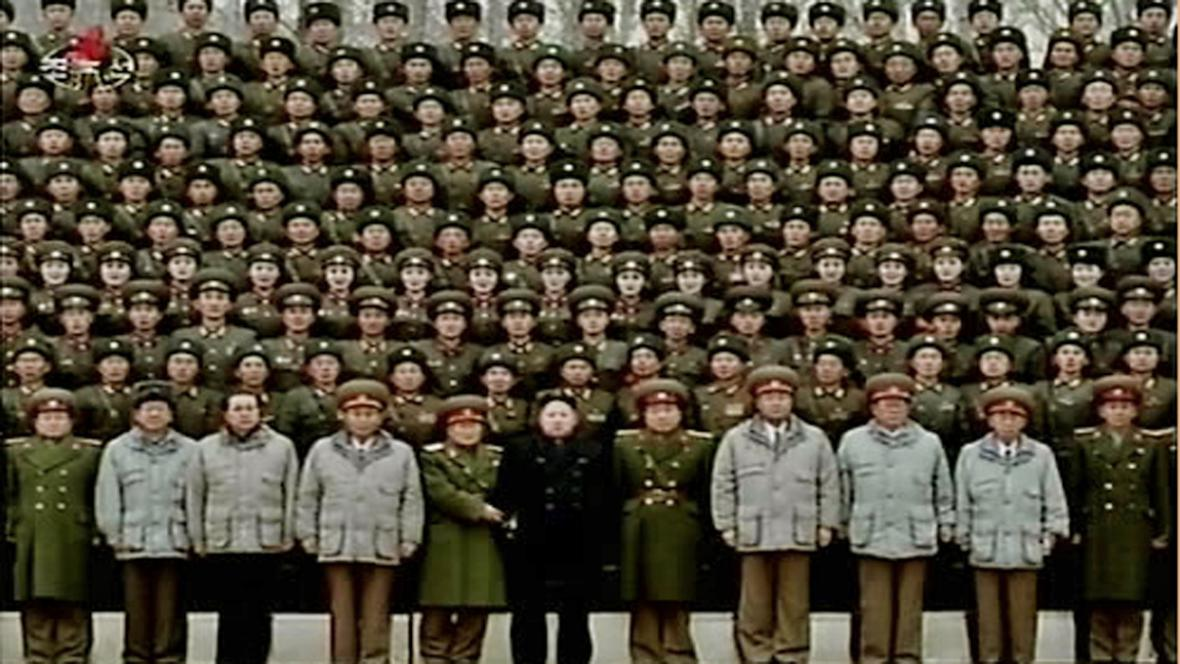 Snímeček s Kim Čong-unem na památku