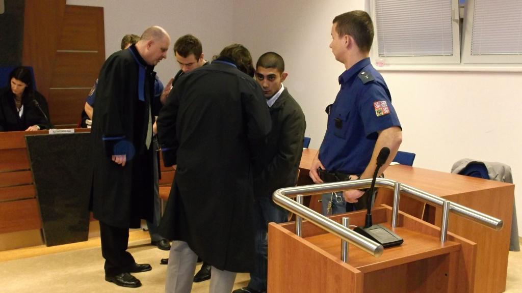Obžalovaný Vavrek před soudem