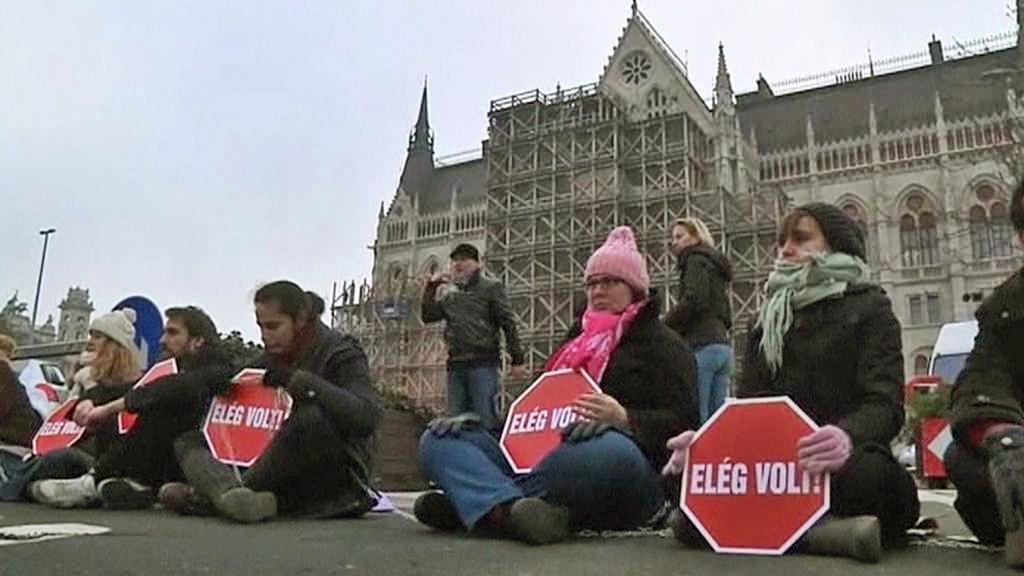 Protest v Maďarsku