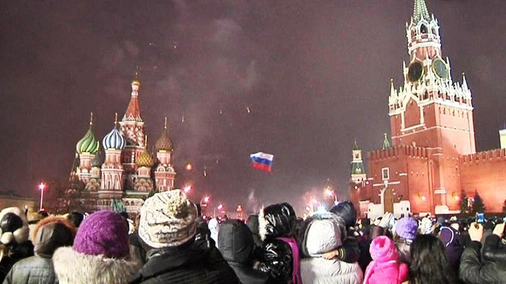 Sïlvestrovské oslavy v Moskvě