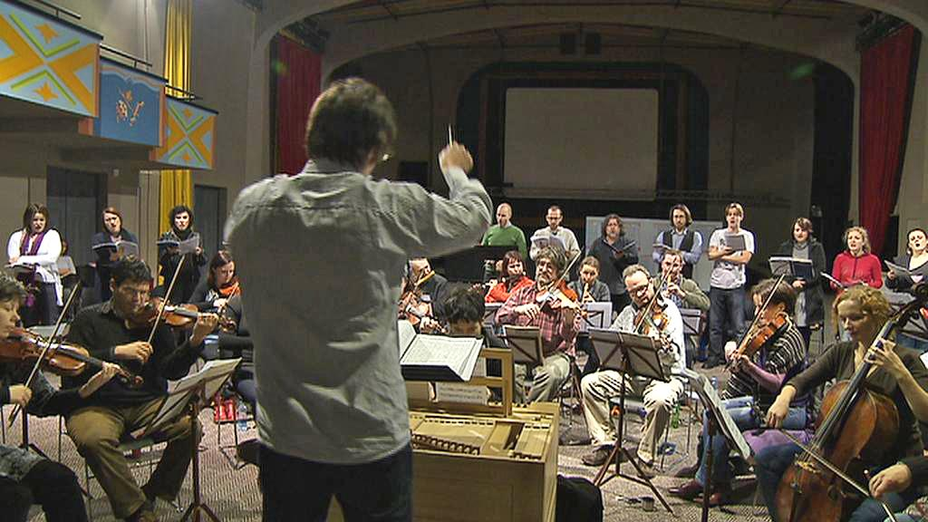 Zkouška orchestru Collegium 1704